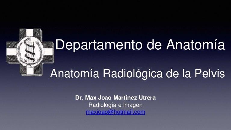 Anatomía radiológica de la pelvis