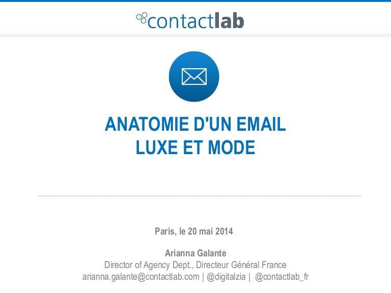 110f82990541d0 Anatomie d'un email - Mode et Luxe