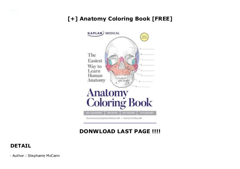 Anatomy Coloring Book [FREE]