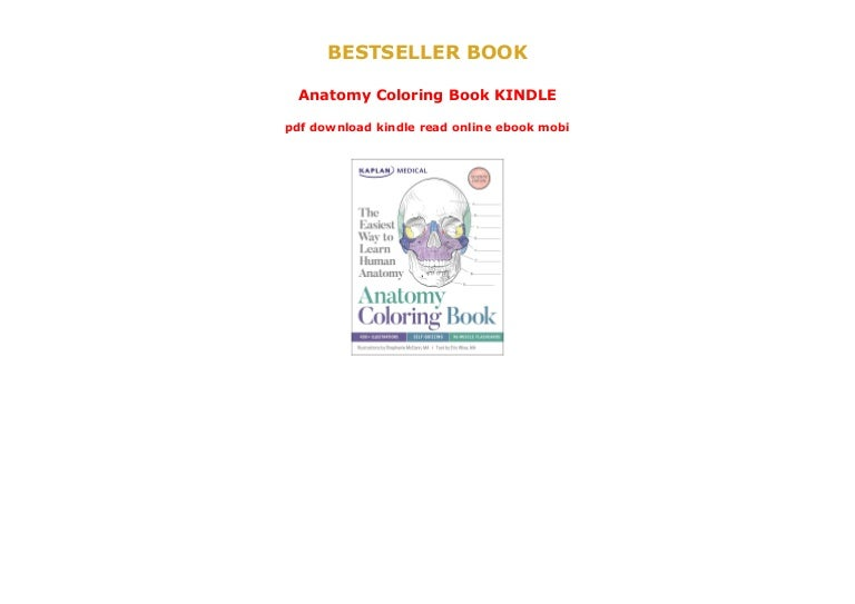- Anatomy Coloring Book KINDLE