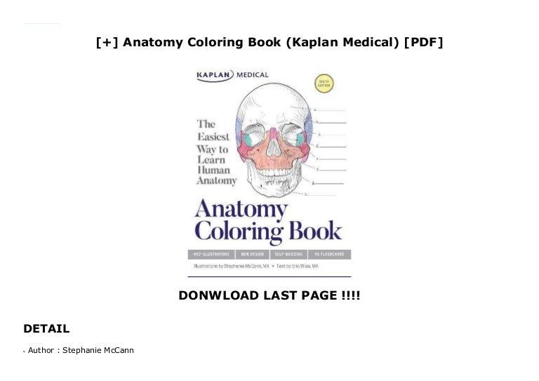 Anatomy Coloring Book (Kaplan Medical) [PDF]