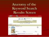 Anatomy of the Keyword Search Results