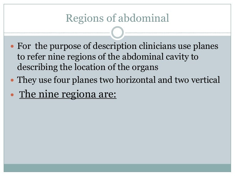 Anatomy Of Abdomen And Regions Of Trunk