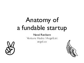 Anatomy of a (un)fundable startup