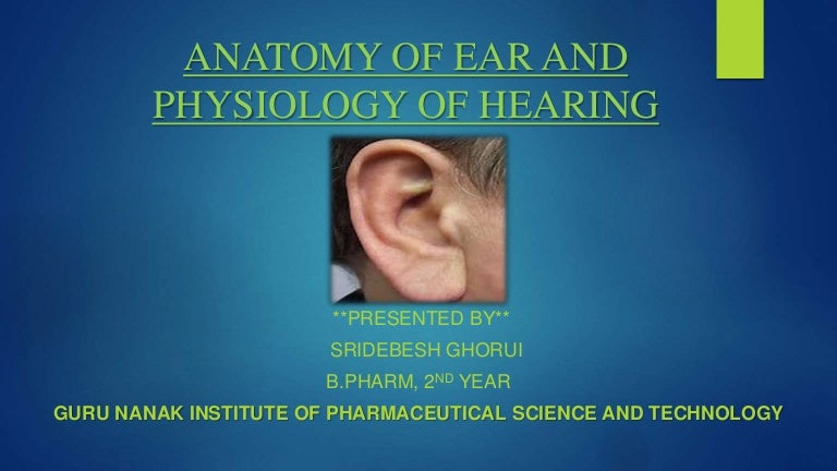 Anatomy Of Ear And Physiology Of Hearing
