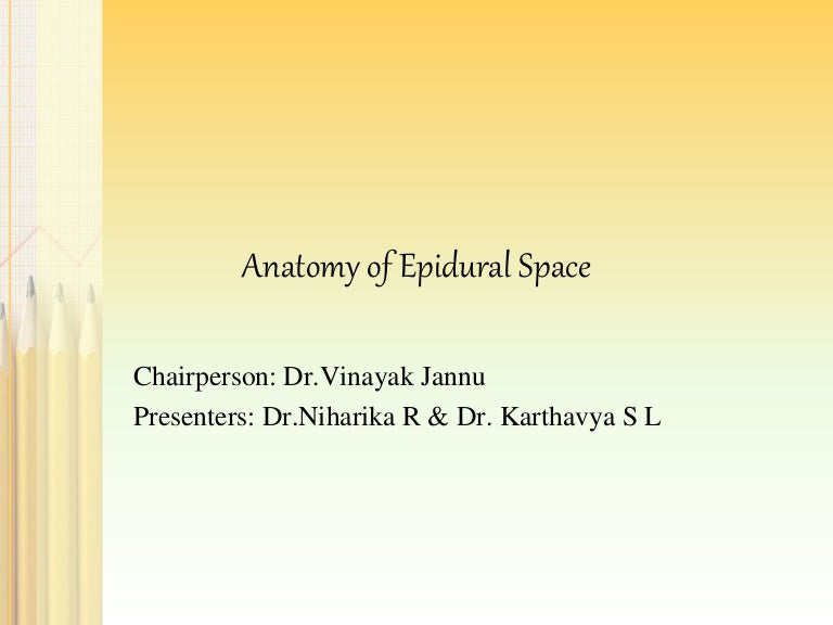 Anatomy of epidural space