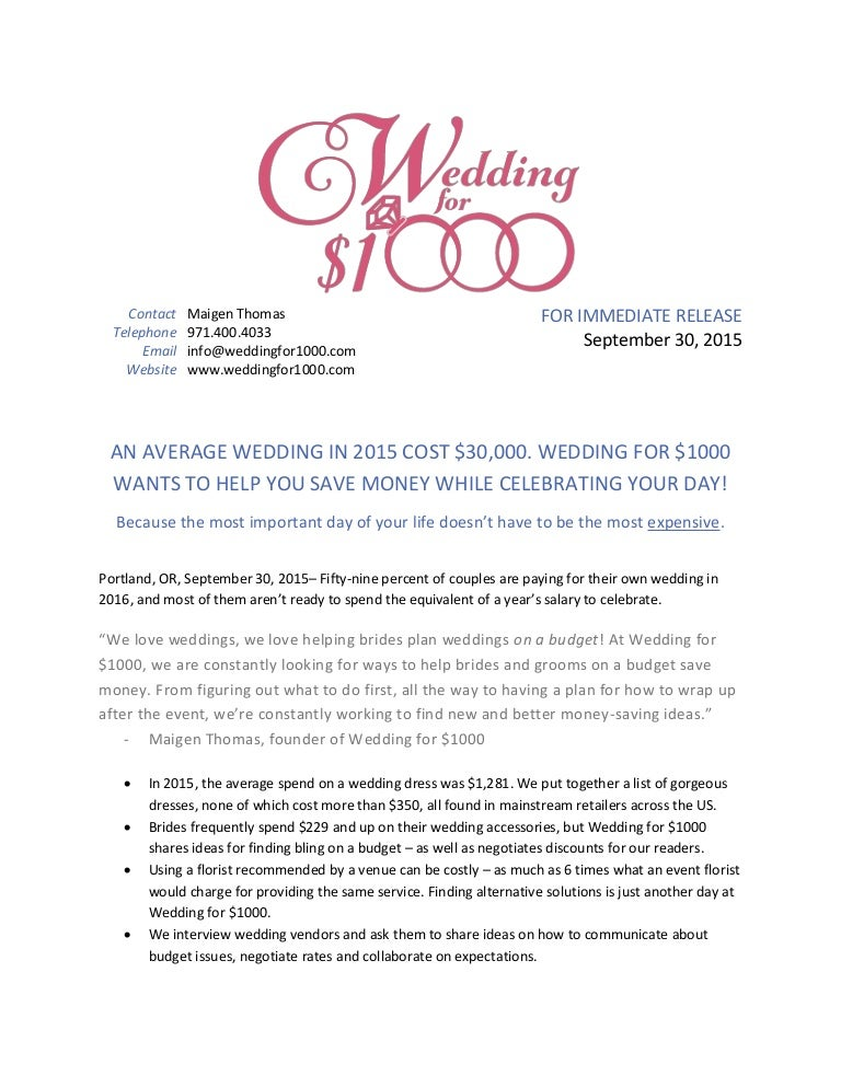 Average Wedding Costs 2015.An Average Wedding In 2015 Cost 30 000 Wedding For 1000