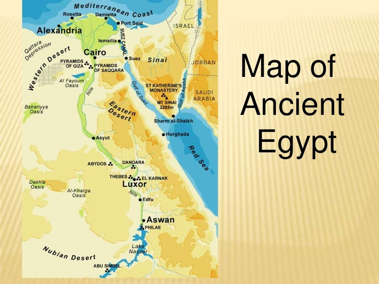 Ancient Egypt P Pt - Map of egypt upper and lower