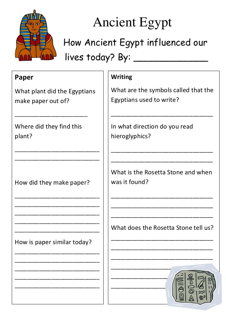 Ancient egypt worksheet – Hieroglyphics Worksheet