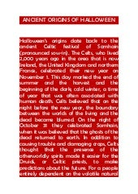 Ancient origins of halloween