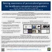 Raising awareness of personalized genomics for healthcare consumers and providers