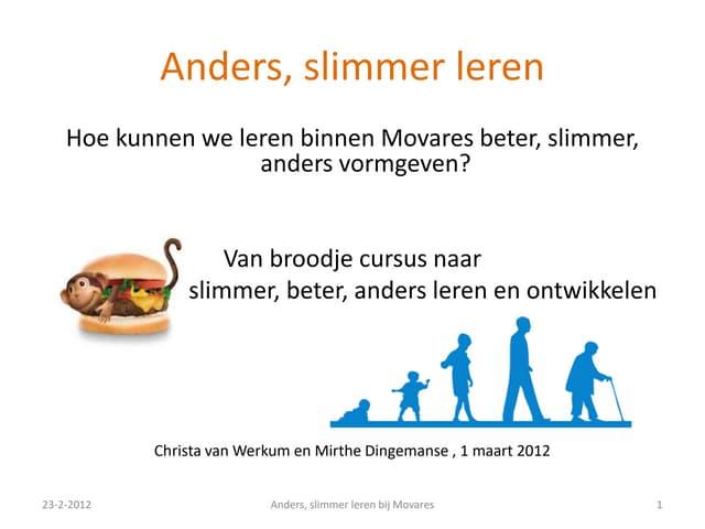 Anders, slimmer leren (Christa van Werkum, 2012)