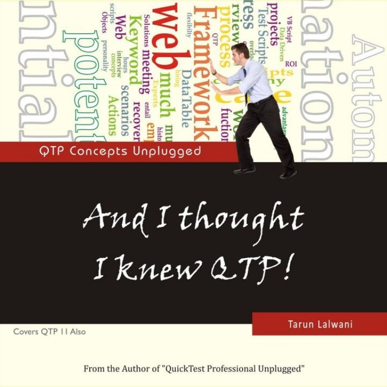 and i thought i knew qtp qtp concepts unplugged rh slideshare net