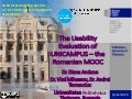 The Usability Evaluation of UNICAMPUS – the Romanian MOOC