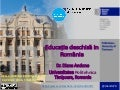 Educatia deschisa in Romania - Open Education in Romania