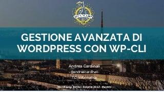 Gestione avanzata di WordPress con WP-CLI - WordCamp Torino 2017 - Andrea Cardinali