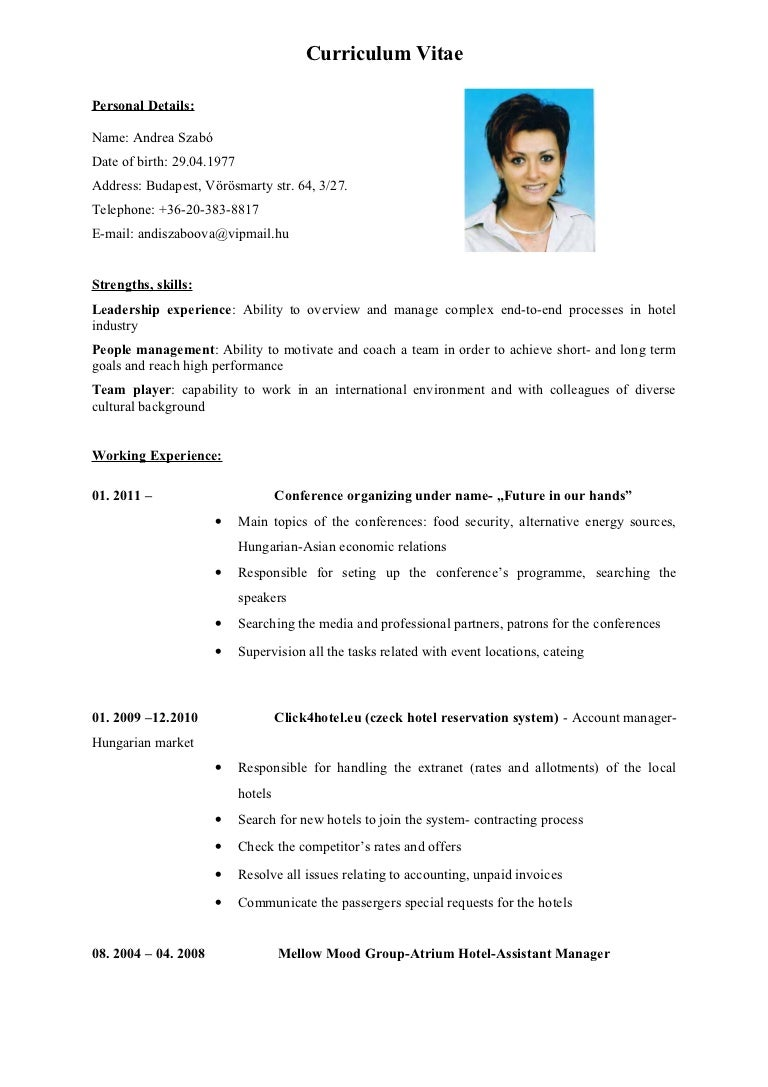 english cv more photos