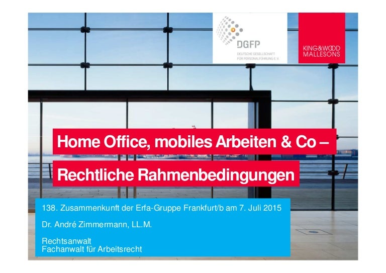 home office mobiles arbeiten co rechtliche rahmenbedingungen - Home Office Regelung Muster