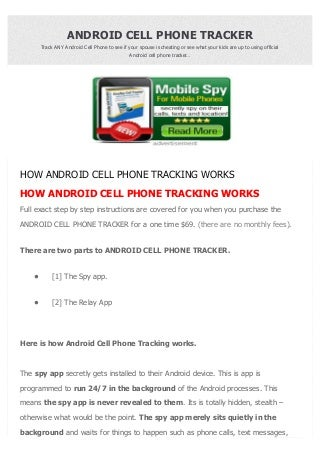 Android cell phone tracker