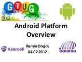 Android Platform Overview - Azercell Barama