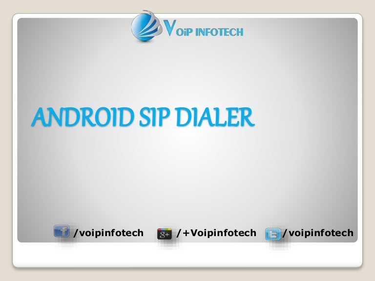 List Of Best Sip Dialer For Android