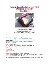 Android tablet for sale at low price