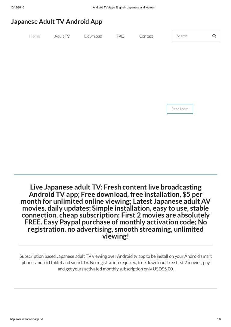 Free adult tv online