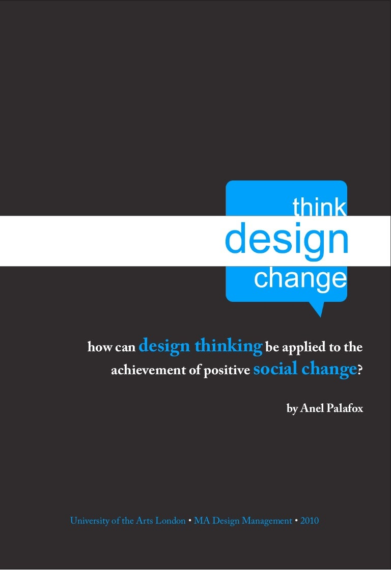 How Can Design Thinking Be Applied For Social Change