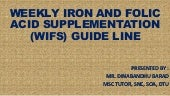 WEEKLY IRON AND FOLIC ACID SUPPLEMENTATION GUIDELINE (WIFS)