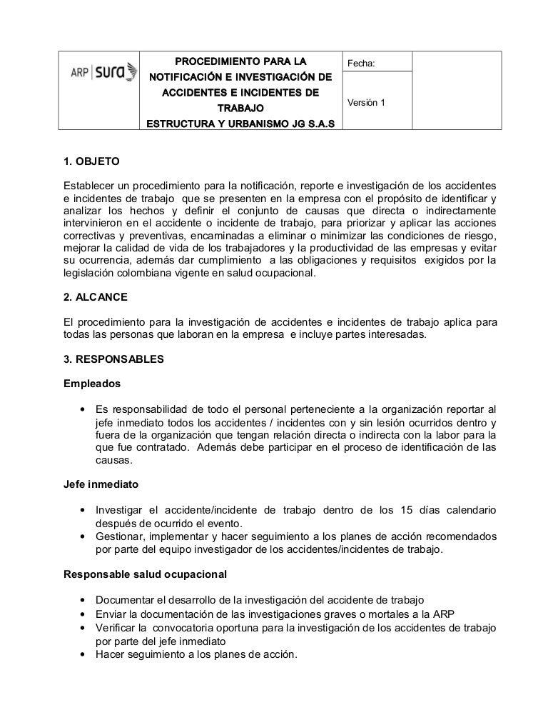 Anexo 15. procedimiento de notificación e investigación