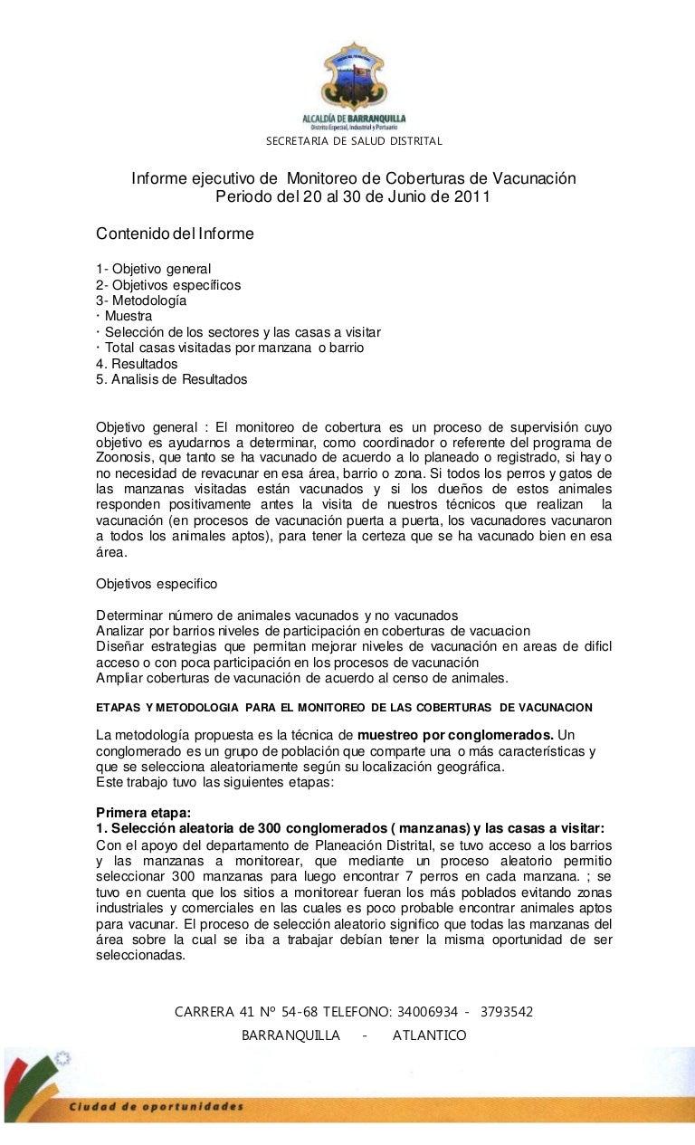 Informe de monitoreo 2011