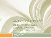 An exploration of best practices in library service to parents and children 0-12