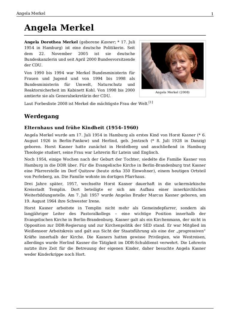 Angela Merkel Bio
