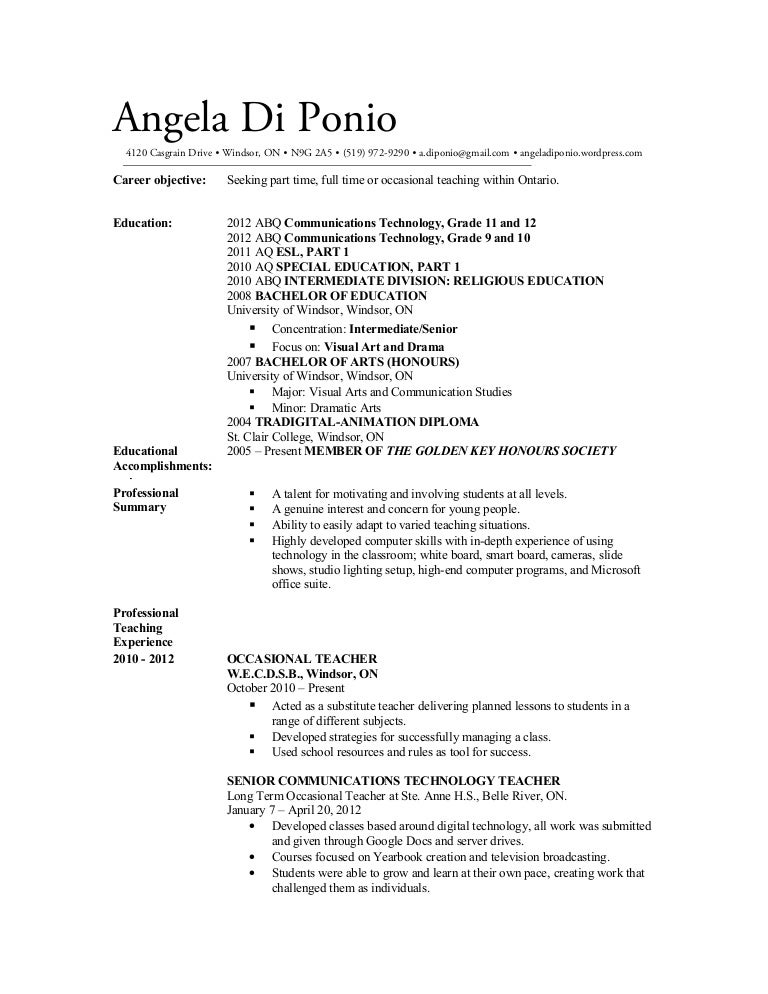 resume sample resume teacher ontario sample resume for religion teacher frizzigame occasional ontario dalarcon com - Sample Resume Teacher Ontario