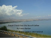 Angel Prayer Cloud Over Sea of Galilee