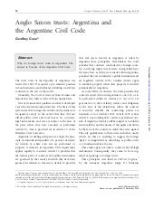 Anglo Saxon Trusts Argentina and the Argentine Civil Code - Trusts and Trustees