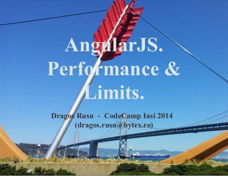 AngularJS - Overcoming performance issues  Limits