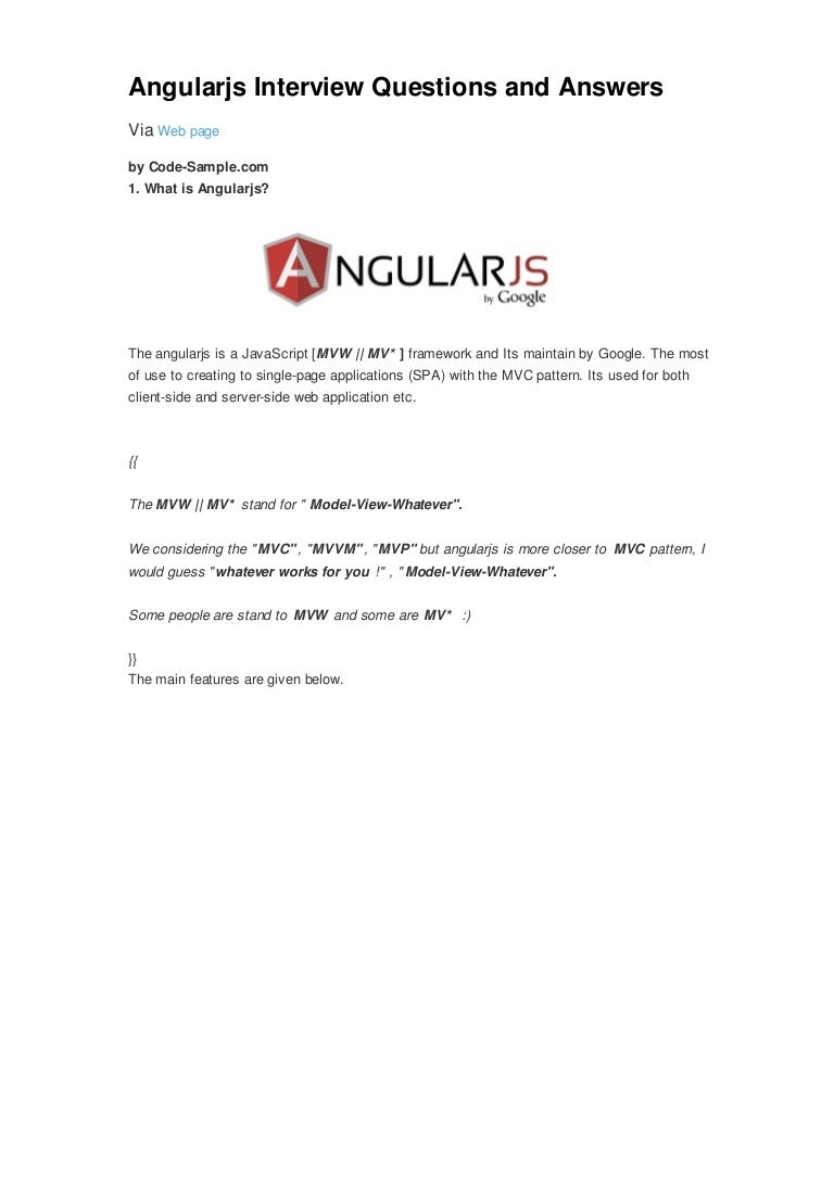 angularjs interview questions and answers