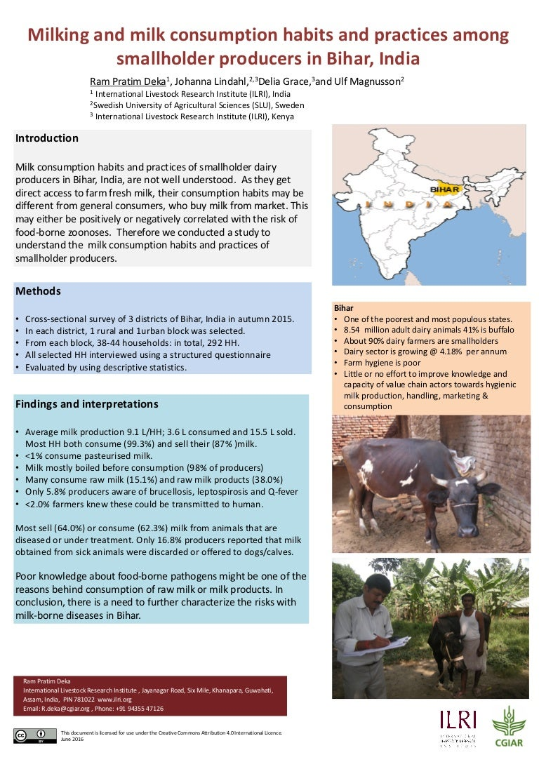 milking and milk consumption habits and practices among smallholder p