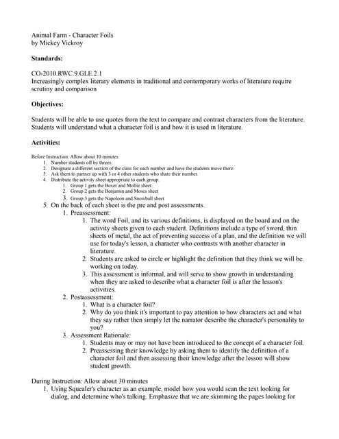 Lesson plan 2 alfa writing farm animals