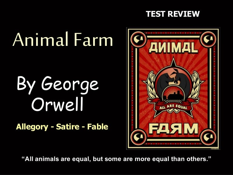 animal farm commentary Fiction would seem a rather indirect method of political commentary  in the case of animal farm  animal farm is not told from any particular animal's.