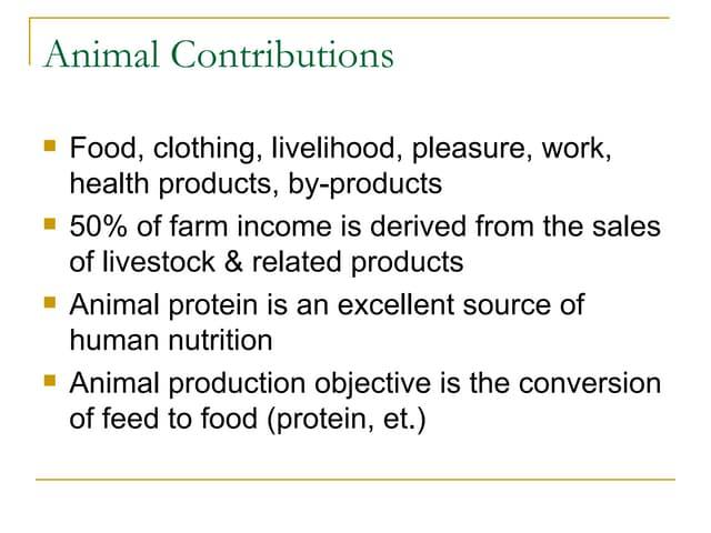 Animal husbandry introduction