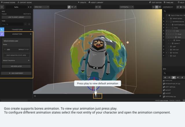 Goo Create: Import animation