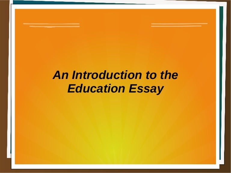introduction for education essay