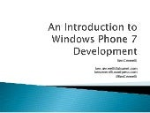 An Introduction to Windows Phone 7 Development