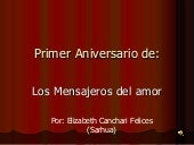 Aniversario de Los Mensajeros del Amor