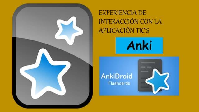 TICs - Aplicación Anki
