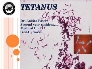 Tetanus Presentation