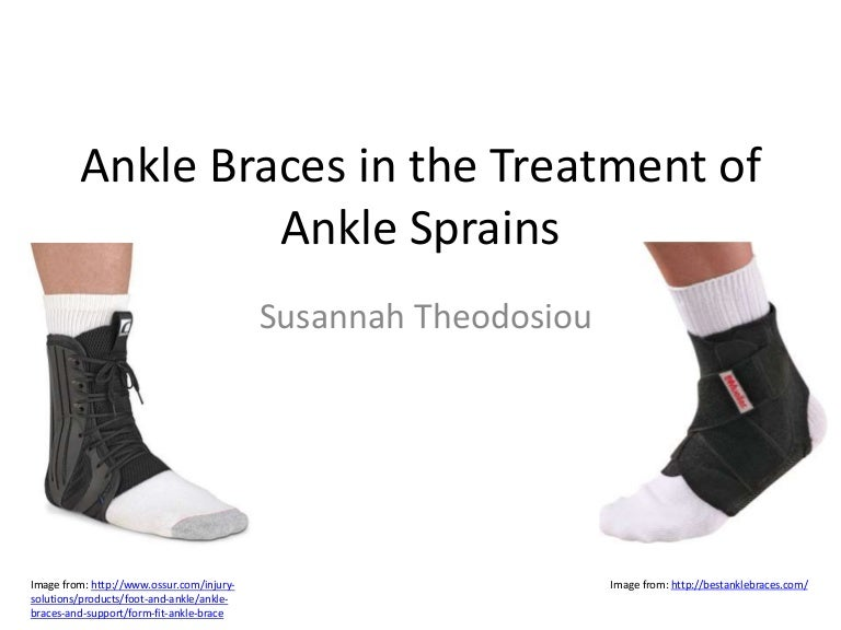 Ankle braces in the treatment of ankle sprains