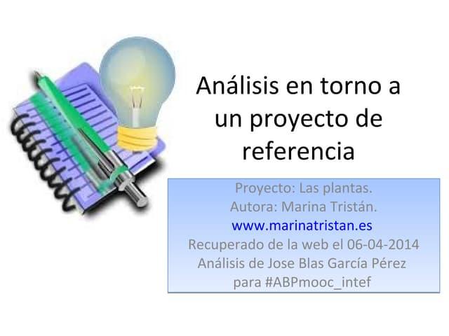 Análisis en torno a un proyecto de referencia acti 1